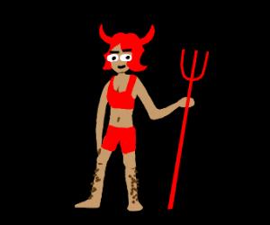 Hairy legged devil lady