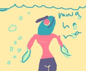 demon fish lady