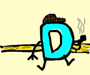 Drawception logo detective with cap, pipe etc