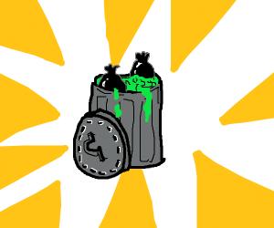 Bin full of trash
