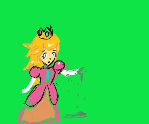 princess peach turns into dust