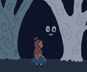 girl is lost in owo woods