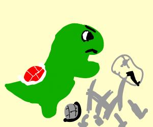 Yoshi obliterates dry bones