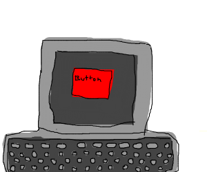 Red button on a computer screen