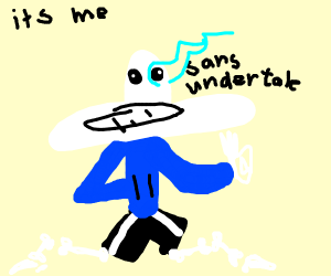 Sans (undertale) shrugs