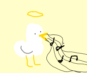 Duck with beautiful voice