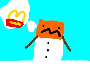 Minecraft Snowman wants McDonalds