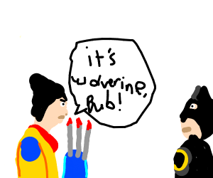 Wolverine Shouts his Name to Batman