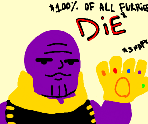 thanos snaps 100persent of furries