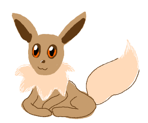 An eevee ( from pokemon )