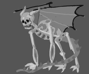 Human skeleton dragon