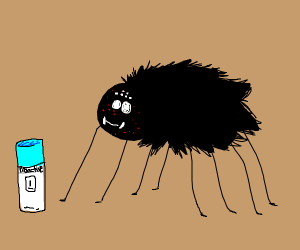 spider with acne