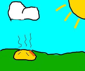 A yellow slime is weak to the sun
