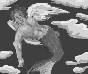 merman with fairy wings