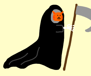 The grim reaper as a cat