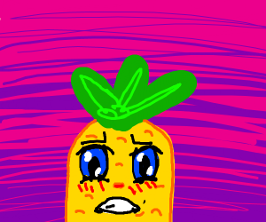kawaii anime angry pinapple