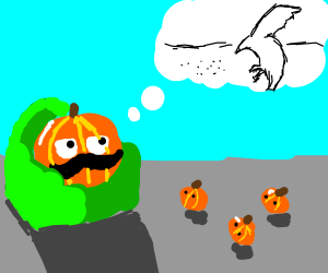 "Pumpkin dad tells kid about ""birds and seeds"""