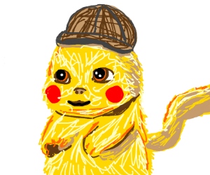 Detective Pikachu with no ears