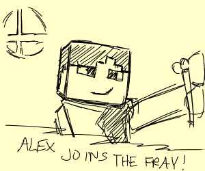 ALEX FROM MINECRAFT FOR SMASH BROS