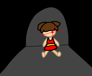 wierd and creepy doll