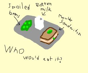 Jazza's lunch tray