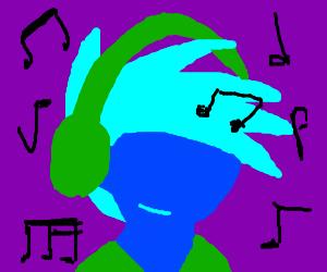 Boy likes music