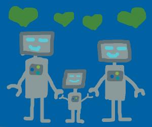 Aww, a robot family!