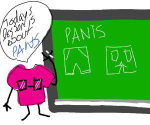 Shirt teaches about pants