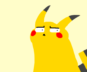 blushing pikachu