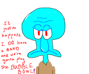 Squidward's filled with determination