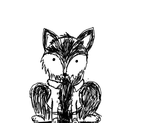 Wolf in a jacket