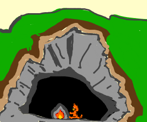 Garfield in a Cave