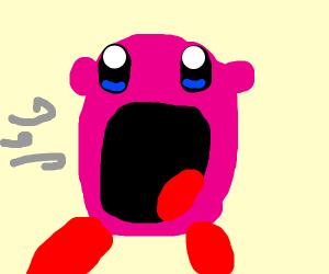 Kirby using his succ