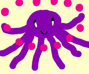 purple octo with balls