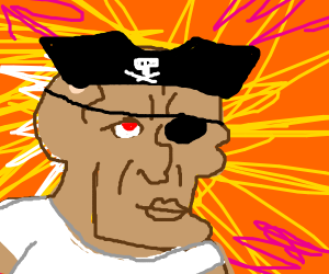 Tan handsome Squidward is a pirate