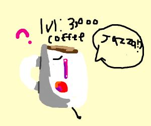 Lv 3000 coffee mug yells Drawception memes
