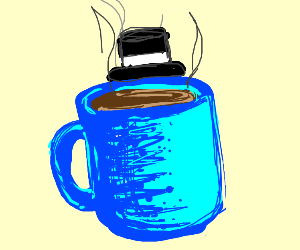 Coffee wearing a Top Hat
