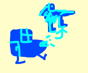 The blue transformer