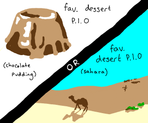 "fav desert pio(i thinks its actually""dessert"""