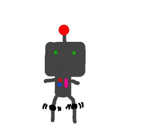 robot with weak knees
