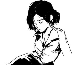 Girl with Shiny Earrings