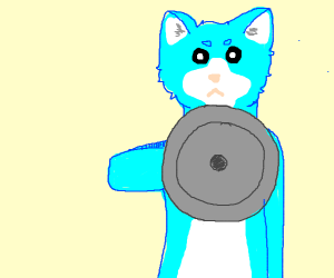 Furry holding a shield