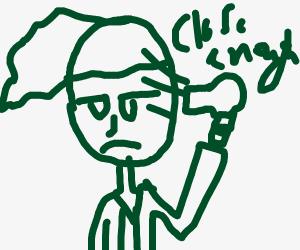 Griot dries his hair