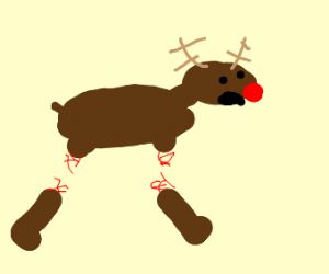Rudolph the reindeer lost his legs