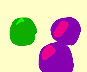 3 marbles 1 green 2 purple