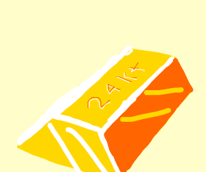 24 karat gold bar.