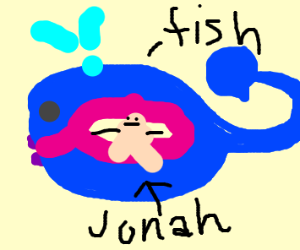 The fish that swallowed Jonah in the Bible
