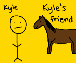 kyle and his horse frend