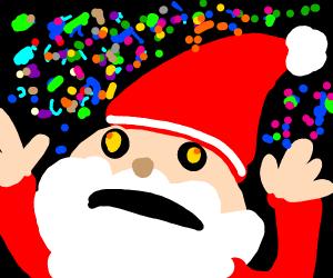 Santa tries some drugs