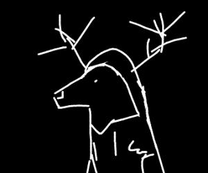 A deer with a hoodie